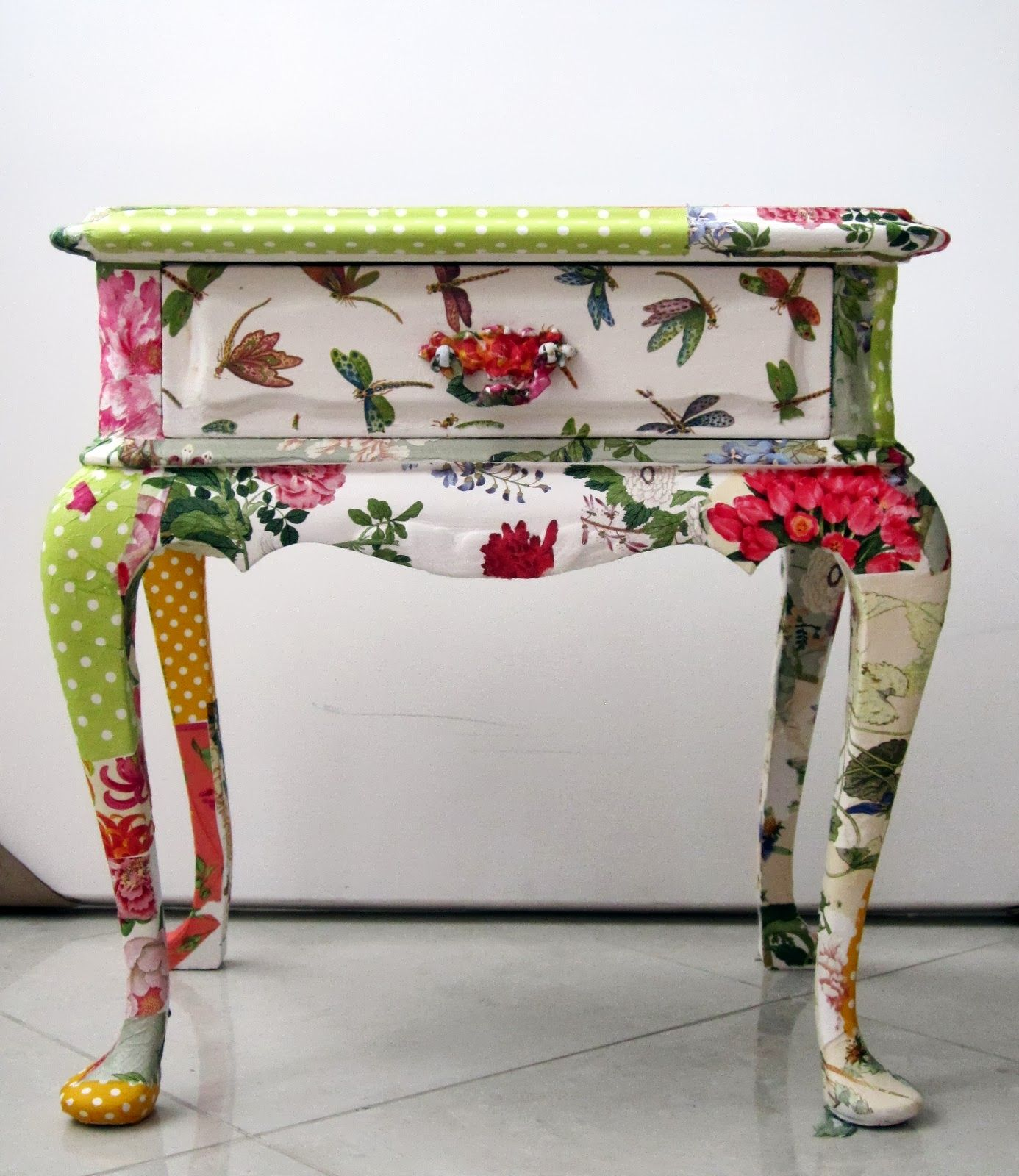 decoupage ideas for furniture. DIY Home Decor Inspiration - Recycled Side Table Decoupage Ideas For Furniture U