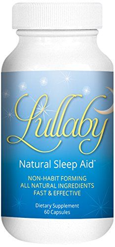 Natural Sleep Aid Melatonin Passion Flower Montmerency Tart Cherry Lemon Balm Chamomile And More Lullaby Contains All Natural Ingredients Drug Free