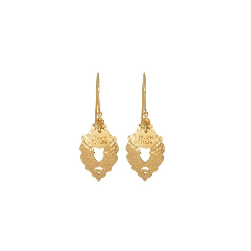 Nicole Fendel Venus Small Gold Earrings