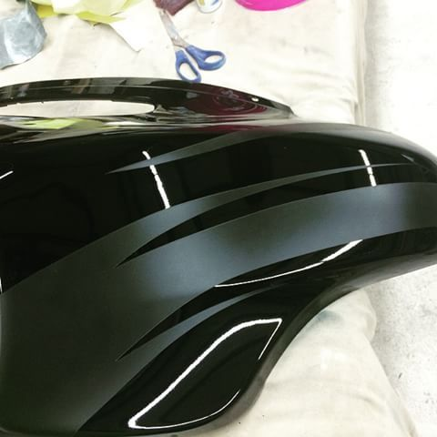 how to paint your bike flat black