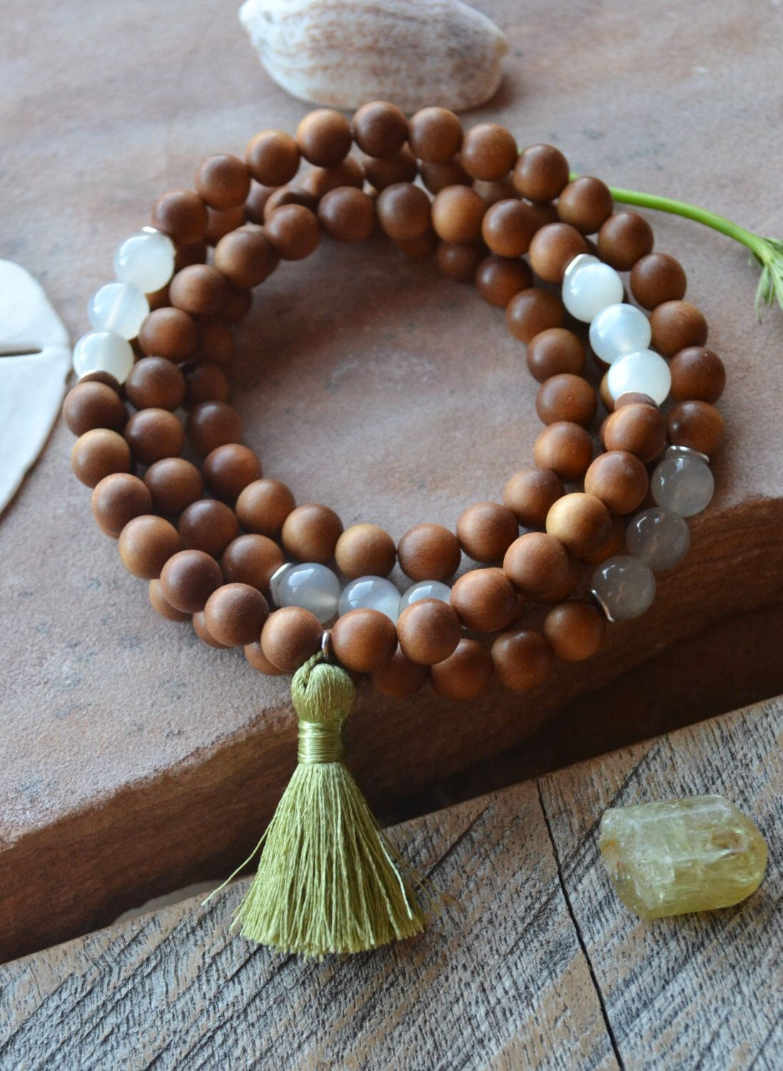 A personal favorite from my Etsy shop https://www.etsy.com/listing/277518298/sandalwood-mala-beads-108-wrist-mala