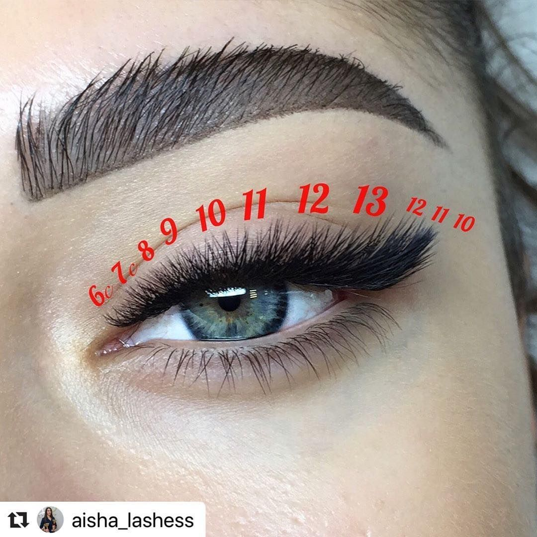 """For lashmakers on Instagram """"New lash mapping for our"""
