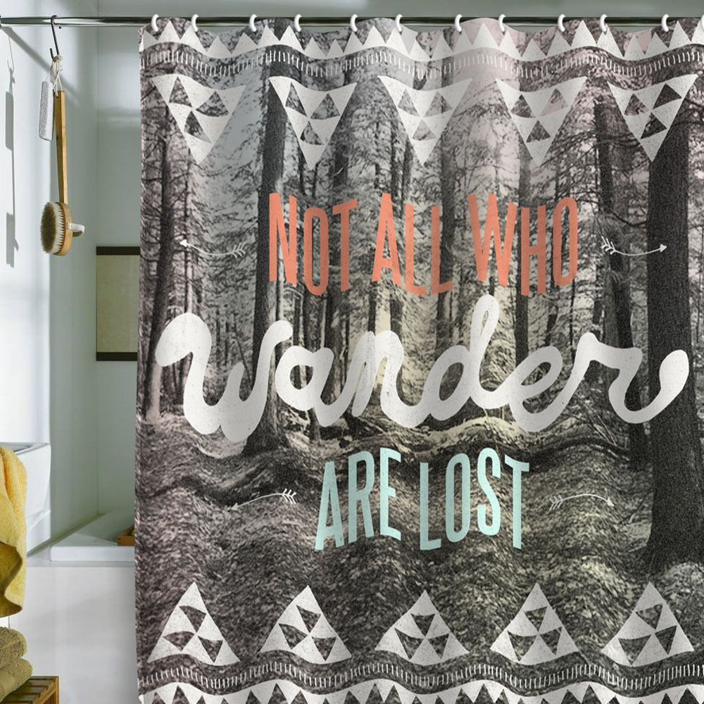 Abri Wander Single Shower Curtain Cool Shower Curtains Curtains Shower Curtain