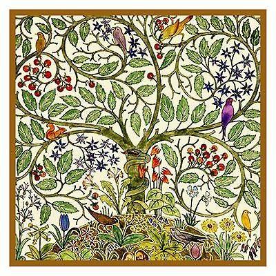 Voysey Art Nouveau Birds Tree Flowers Nature Counted Cross Stitch ...