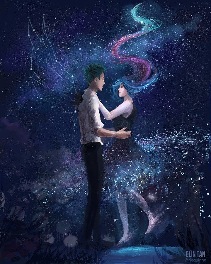 He was fond of the stars, and she was the Galaxy. Anime