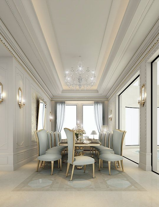 Luxury Dining Room Furniture: Interior Design Package Includes Majlis Designs, Dining