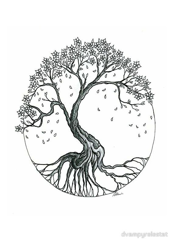 Abstract Cherry Blossom Tree By Dvampyrelestat Tree Tattoo Small Blossom Tree Tattoo Tree Roots Tattoo