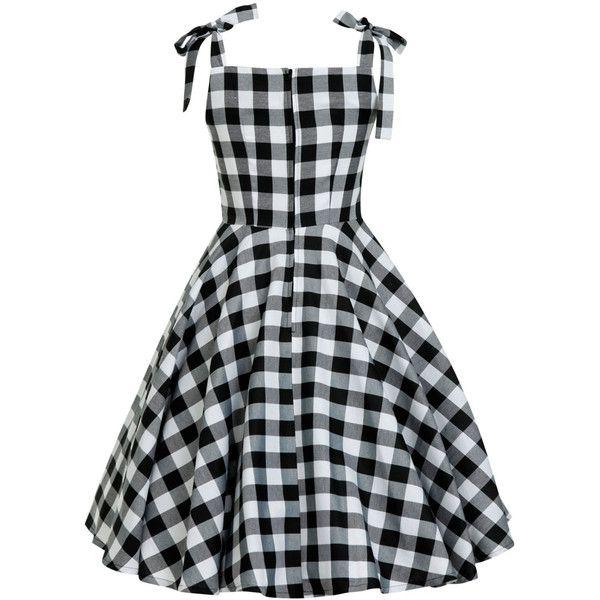 Black White Checkered Dress Summer Dress Sun Dress PinUp Dress ...