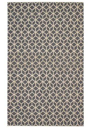 Dwell Studio Wool Facet Charcoal Cream Rug 650 Design