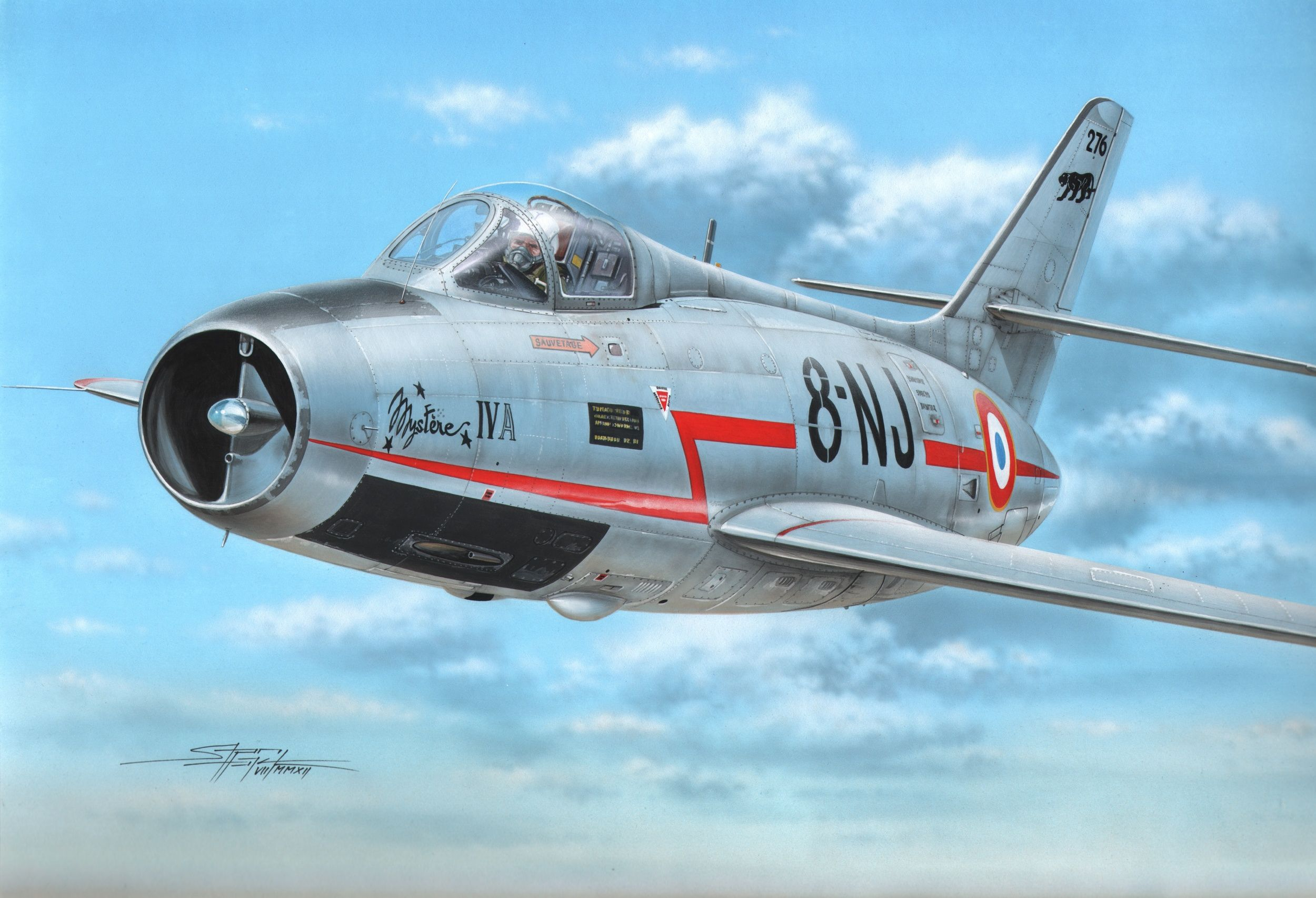 The Dassault Md 454 Mystere Iv Was A 1950s French Fighter Bomber Aircraft The First Transonic Aircraft To Enter Service Pilots Aviation Aircraft Art Aircraft