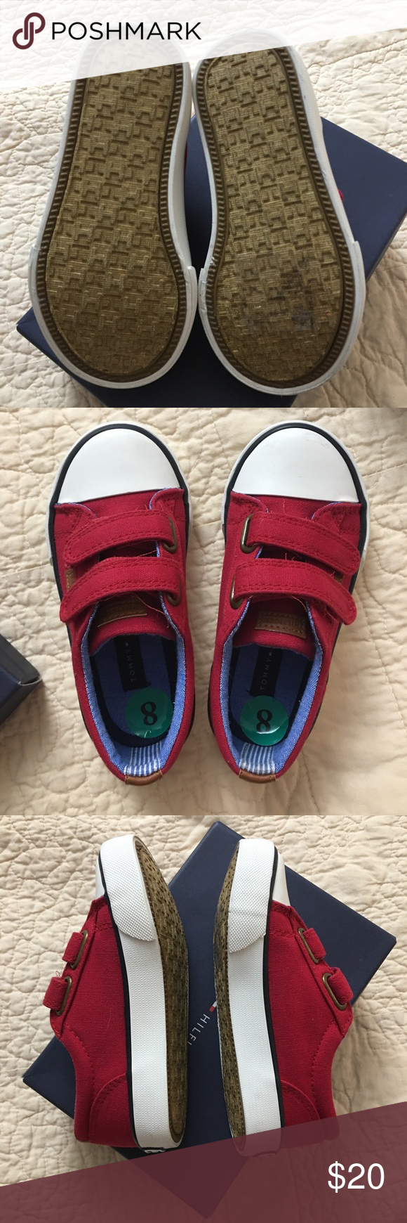 4ccf3180d5068f Tommy Hilfiger baby shoes Super cute red tennis shoes for boy or girl. Tommy  Hilfiger Shoes Sneakers