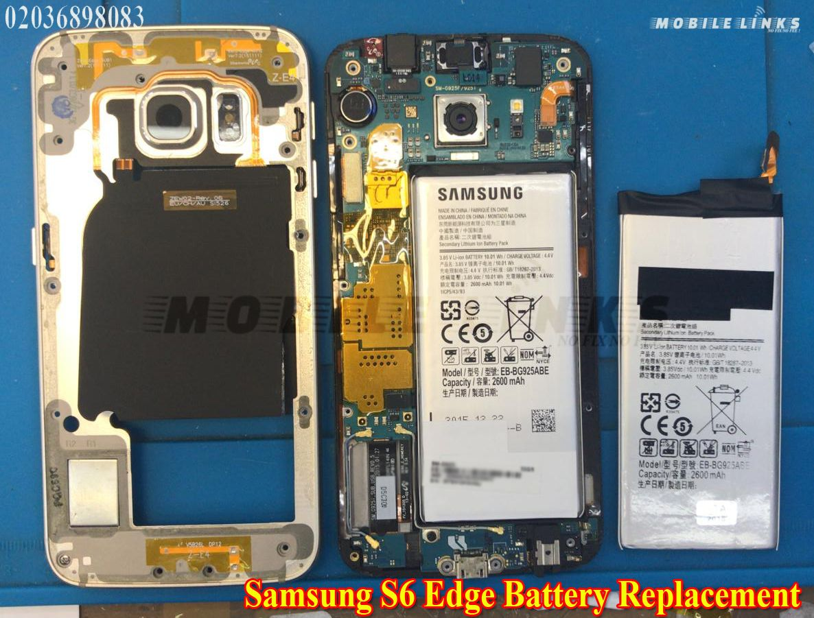 Samsung galaxy s6 edge g925f battery replacement at mobile