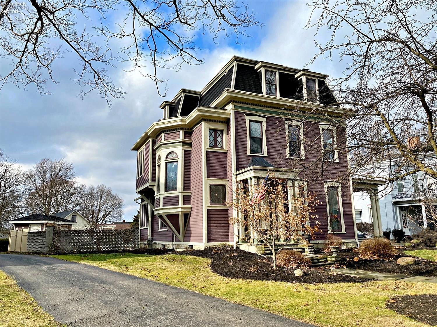Amazing Second Empire Mansard Victorian House Plans With Wrap Around Porch And Metal Roofing Tile Castletop Also G Old Victorian Homes Victorian Homes Mansions