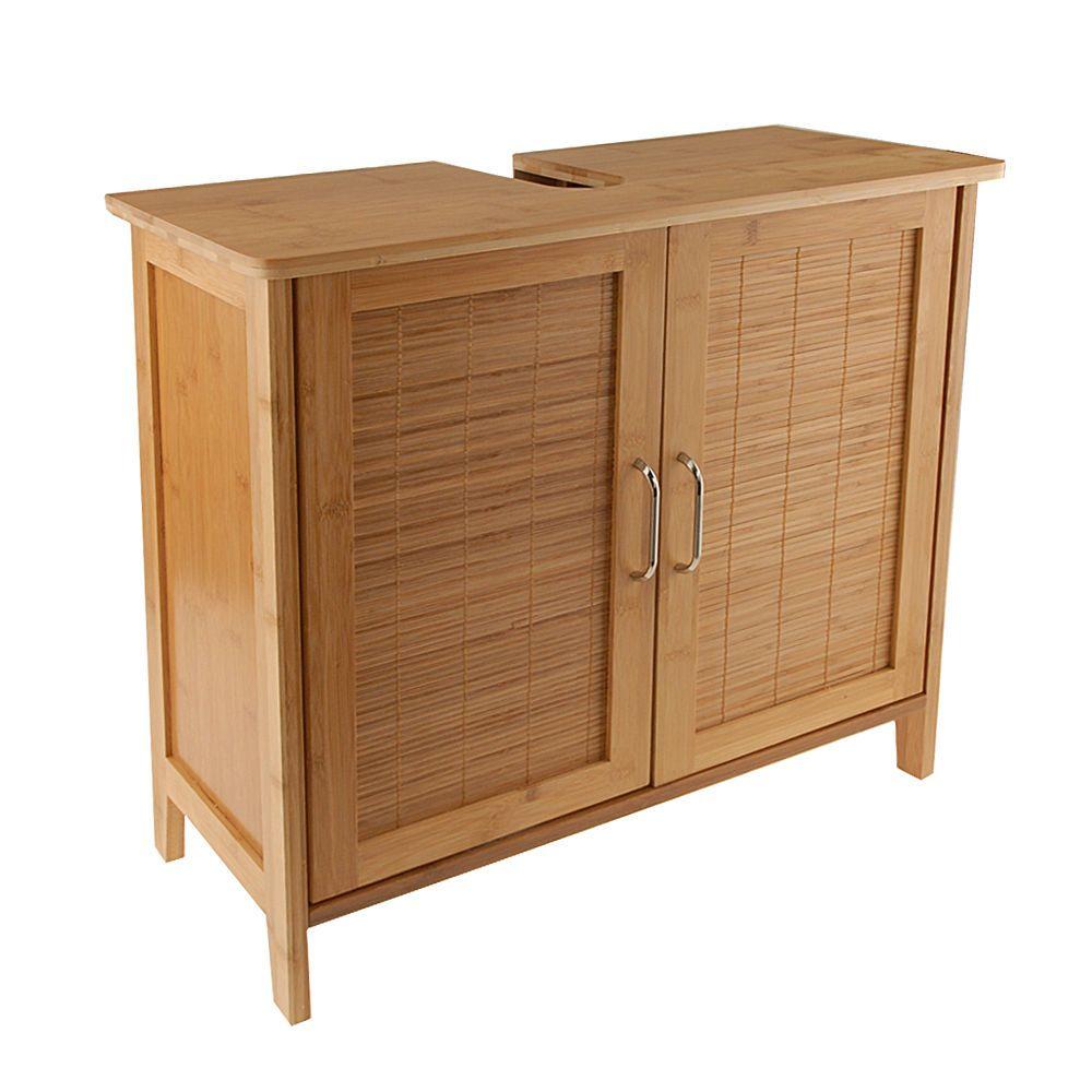 Details zu Bambus Waschtischunterschrank Bambusschrank Badmöbel ...