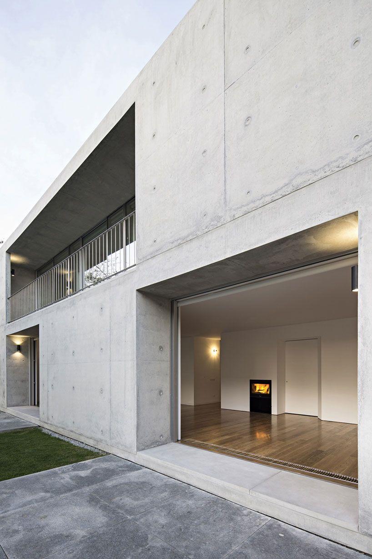 this sleek concrete home by joão vieira de campos doesn\'t have a ...