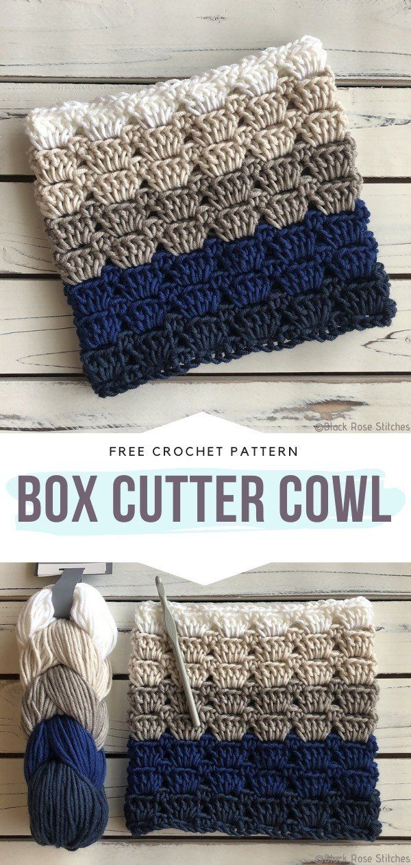 How to Crochet Box Cutter Cowl