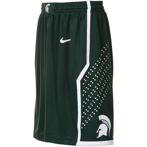 bb2e58e8889 Michigan State Spartans Green Replica Basketball Shorts