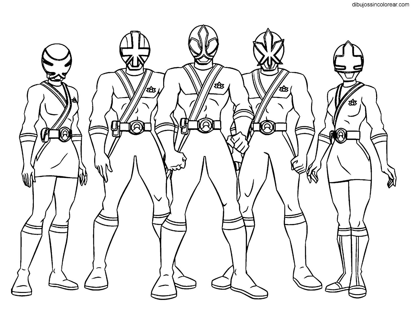 Power Rangers Samurai Pictures To Print And Colour ...