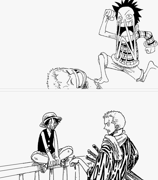 Zoro understands Luffy.