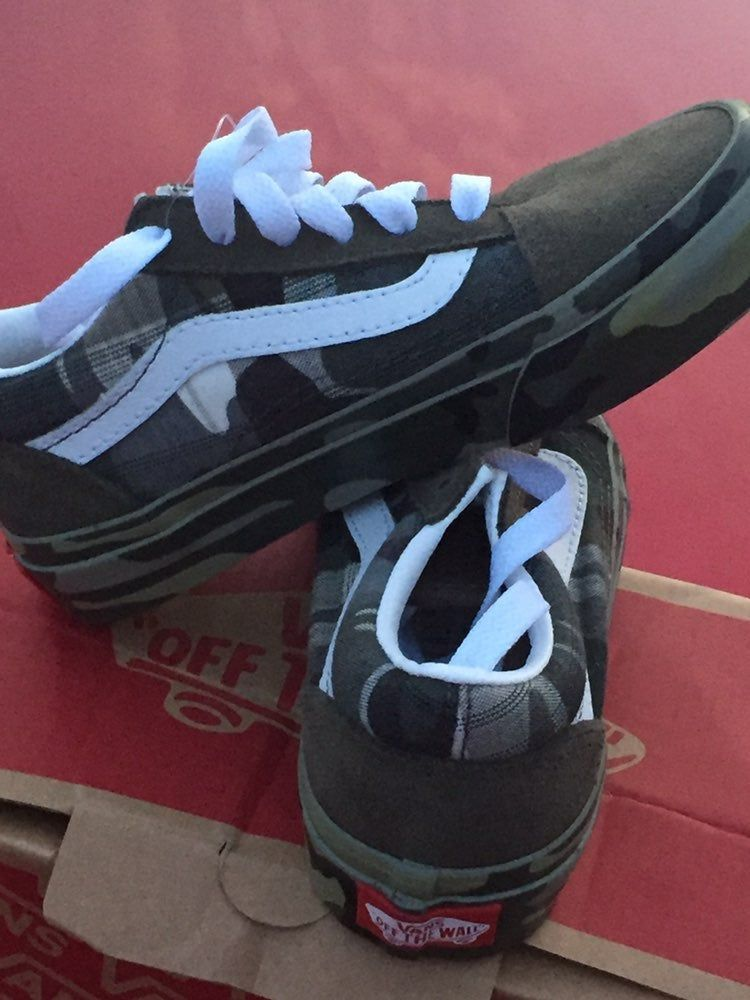 Army fatigues vans great shoes for boys
