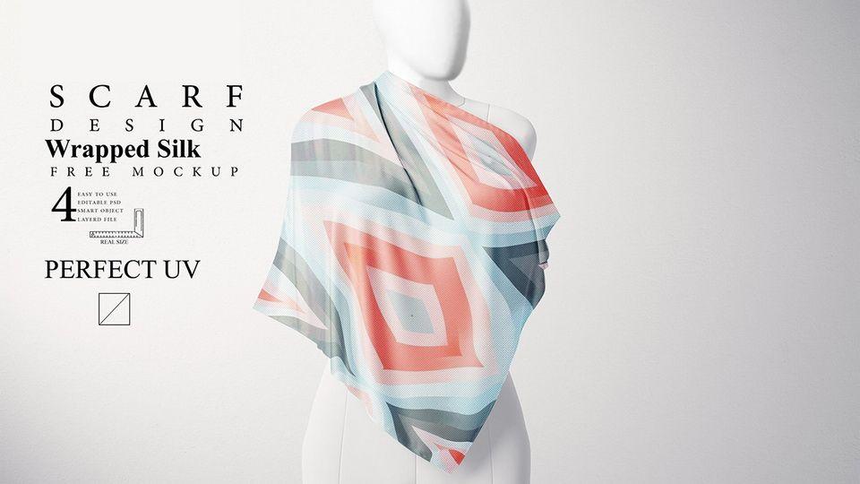 Download Free Scarf Mockup Pinspiry Design Mockup Free Free Scarf Scarf Design