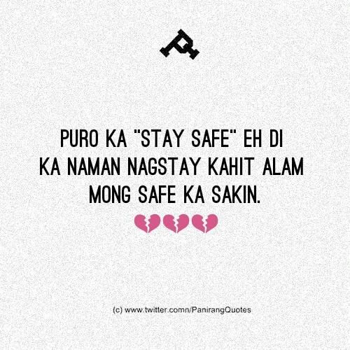 Platito On Twitter Tagalog Quotes Safe Quotes Reality Quotes