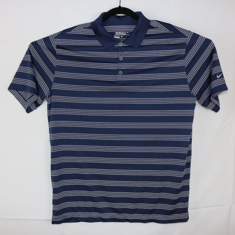 4d83ea90 Nike Golf Tour Performance Dri Fit Striped Polo Golf Shirt Mens L Blue and  White #fashion #clothing #shoes #accessories #mensclothing #shirts (ebay  link)