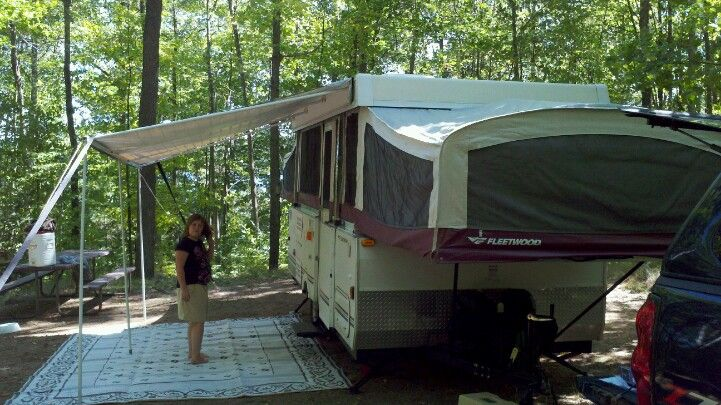 Luv Camping In Our Fleetwood Arcadia Pop Up Camper Camping Fun Camping Pop Up Camper