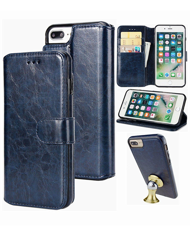 4d2ec8dd3f3f iPhone 8 Plus/7 Plus Wallet Case,Detachable Leather Hynice Phone ...