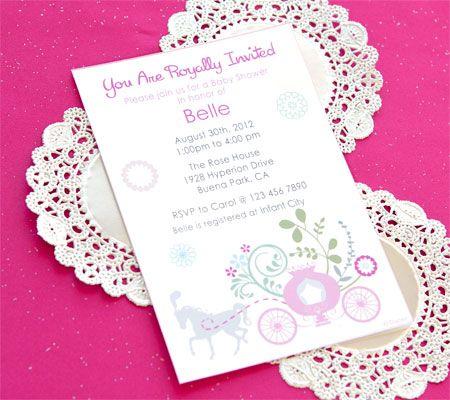 Disney Princess Printable Invitations. Invite Guests To A Royal Affair With  Customizable Disney Princess Baby