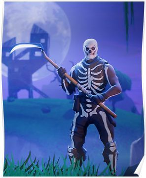 Fortnite Skull Trooper Poster Products In 2019 Battle Royale Game Screen Wallpaper Games
