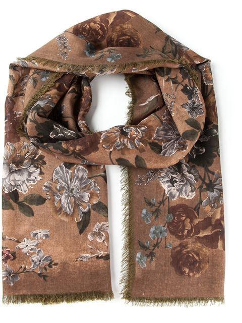 Valentino Floral Print Scarf - Idrisi - Farfetch.com
