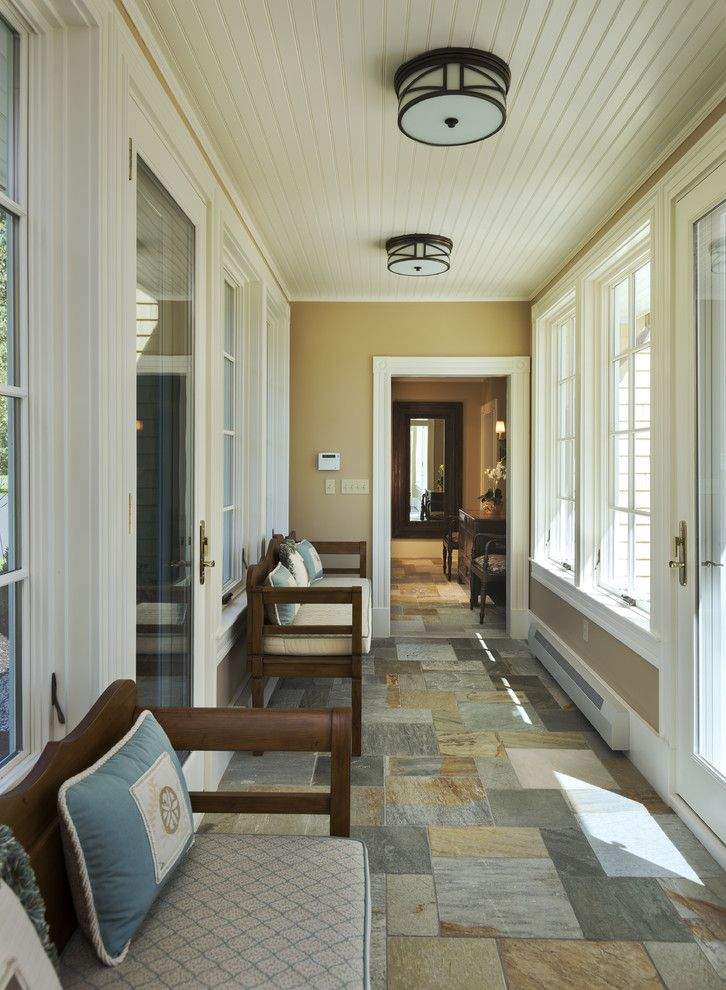Breezeway Ideas Entry Traditional With Benches Beadboard