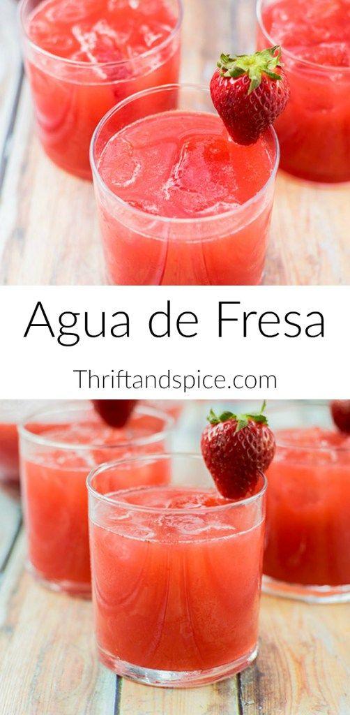 How to Make Agua de Fresa