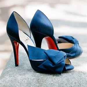 My Dream Wedding Shoes Dark Blue Louboutin Bridal