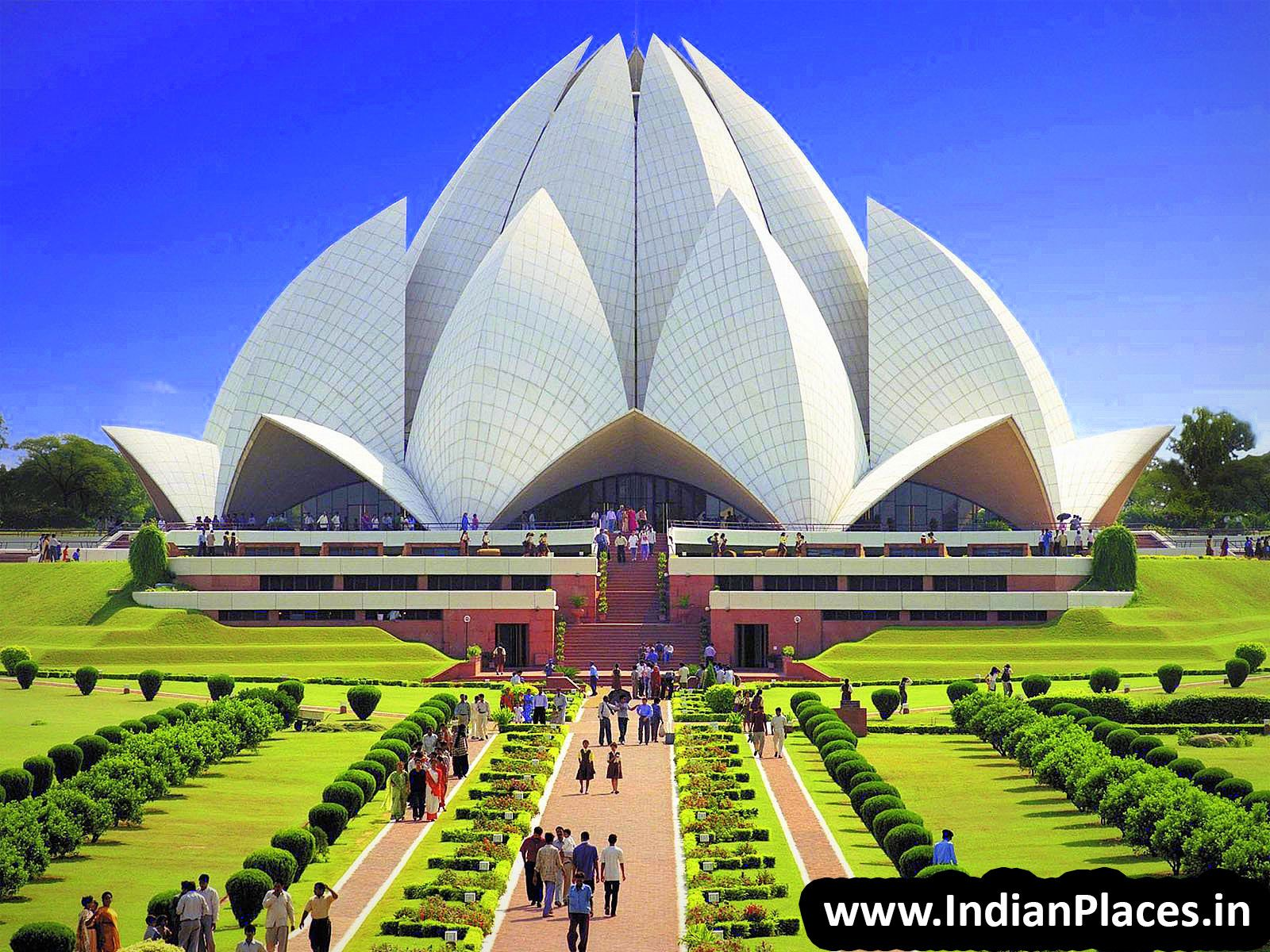 Beautiful pictures of gods and their temple - Beautiful View Of Lotus Temple Also Known As Bahai House Of Worship