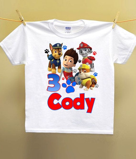 Paw Patrol Birthday Shirt Personalized By AimToPleaseCreations 1375