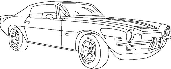 Corvette Cars Chevrolet Classic Coloring Pages