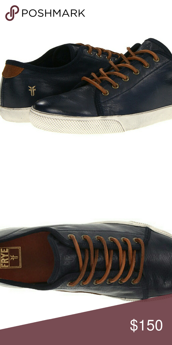 Frye, Navy leather, Leather sneakers