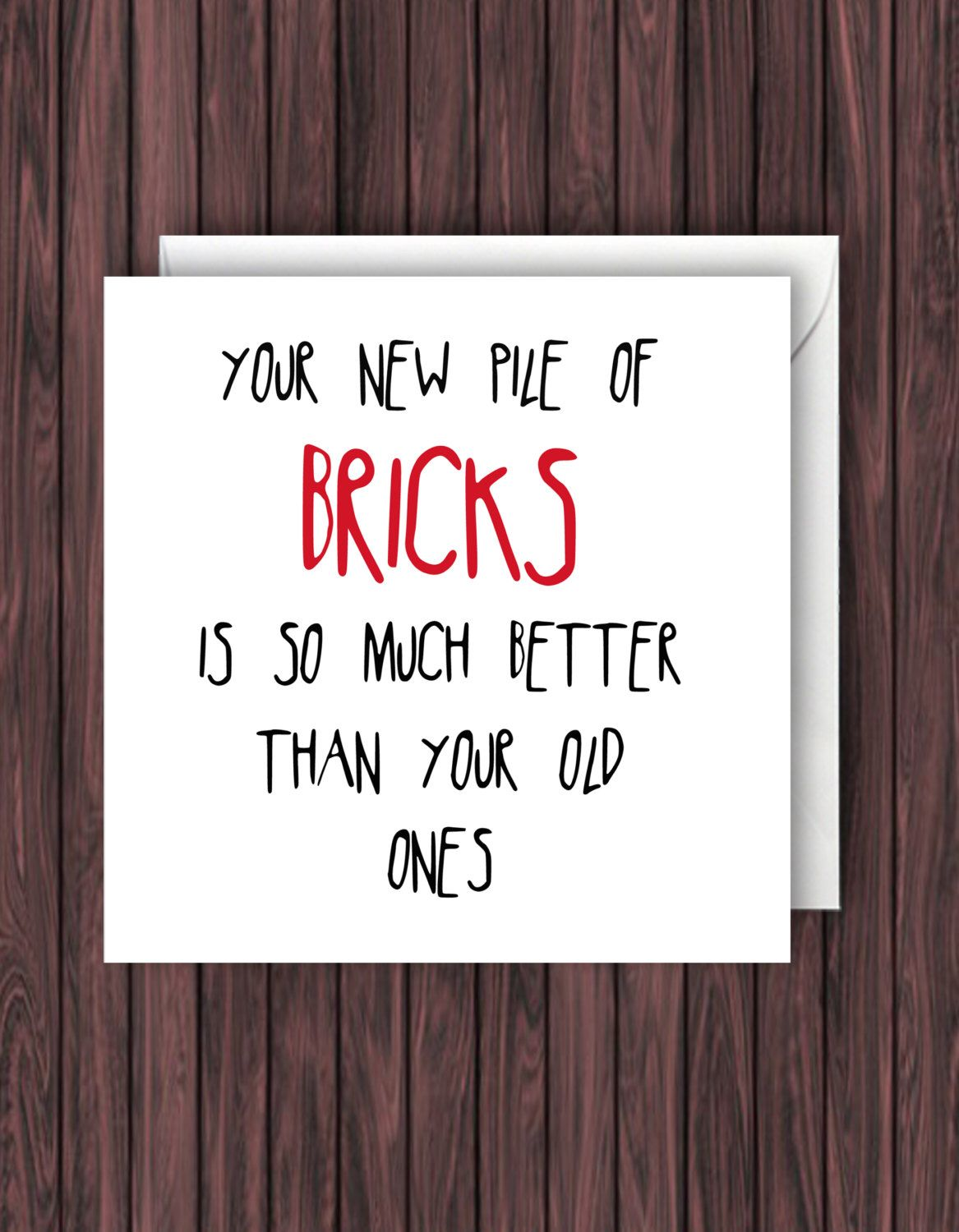 Pile of bricks funny new home card funny new house card funny funny new home card funny new house card funny greeting kristyandbryce Image collections