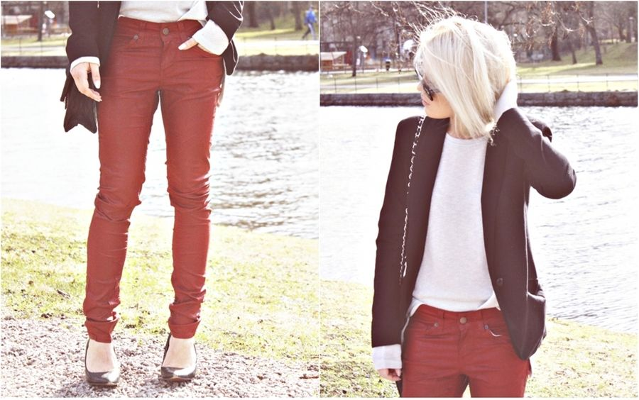 Red leather pants...drooling