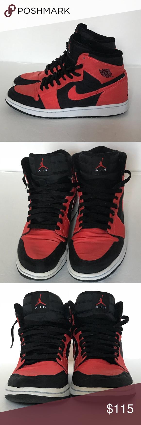 99f2afc4e0f6 2008 Nike Air Jordan 1 Retro High Black Max Orange Great Condition ... 2008 Nike  Air Jordan 1 Retro High s  344613-061 Size  11 Color  Black   Max Orange ...