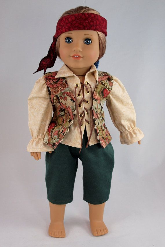 Pirate pantaloons for 18 dolls boy or girl by BedsnBlankies