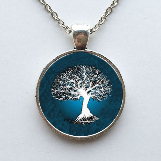 Tree of Life Necklace (silver metal)