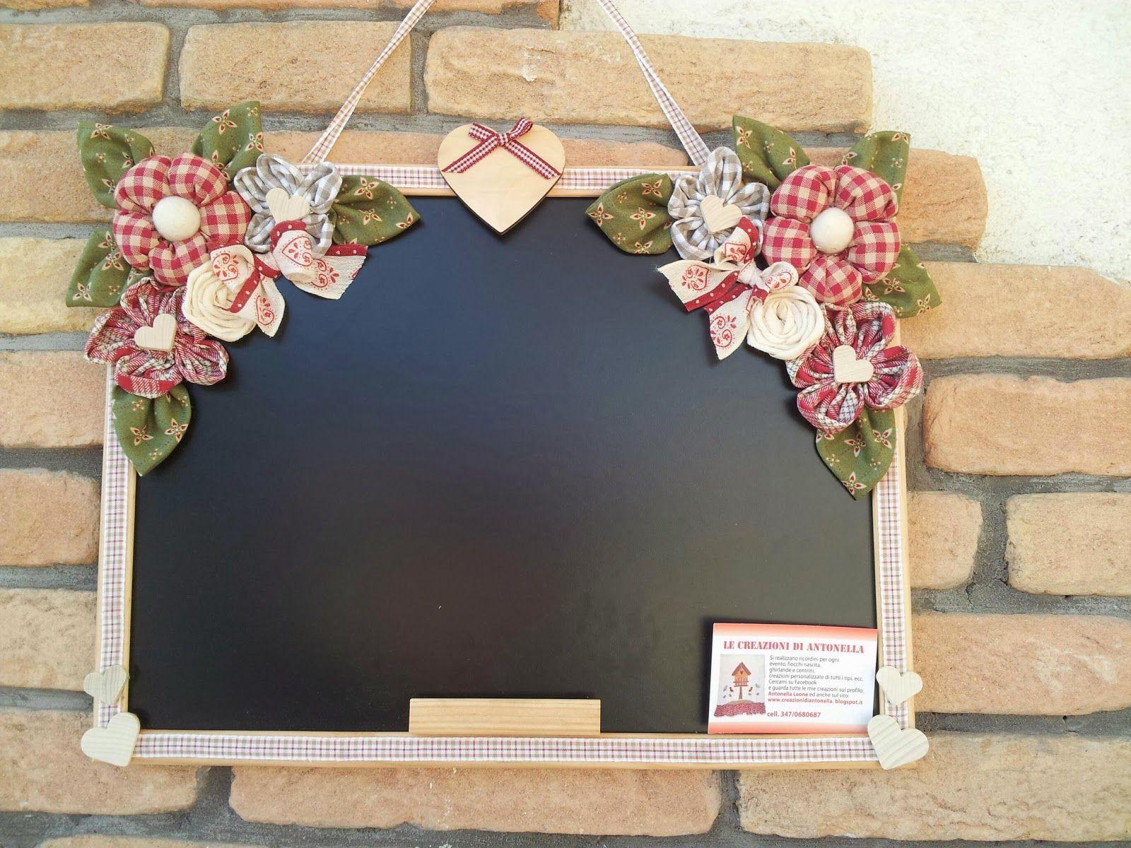 Le creazioni di antonella lavagna rettangolare con fiori for Decorazioni cucina fai da te