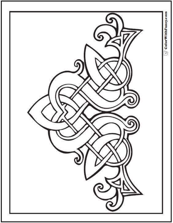 Fuzzys Celtic Designs Patrick Coloring