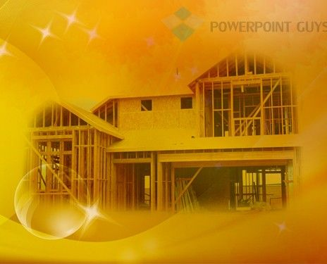 Elegant Wooden House Power Point Template. Building A HouseBuild My ...