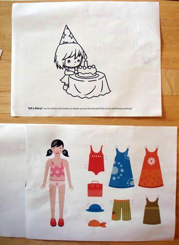 Kleed het meisje aan; wat doen kinderen? Op kleur of op vorm, of..