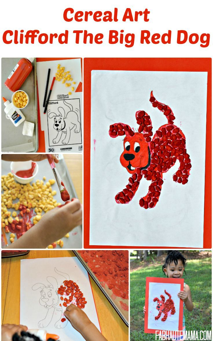 Painted Cereal Art: Clifford The Big Red Dog + Free Books ...