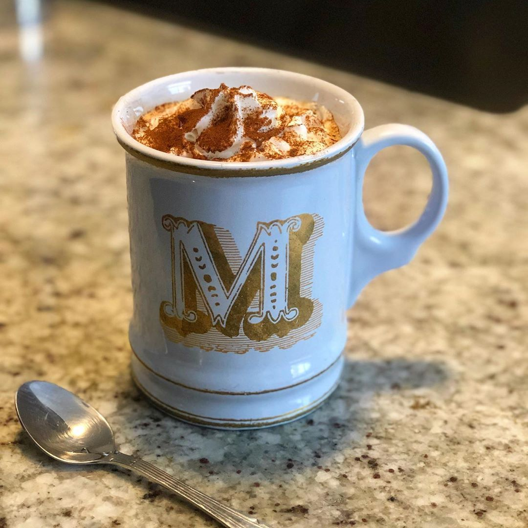 Keeping it basic AF at home. I added pumpkin pie spice and cinnamon to my espresso before dripping it and boom, a pumpkin spiced latte. No sugar, no syrup, no $4.95...give it a try, I dare you